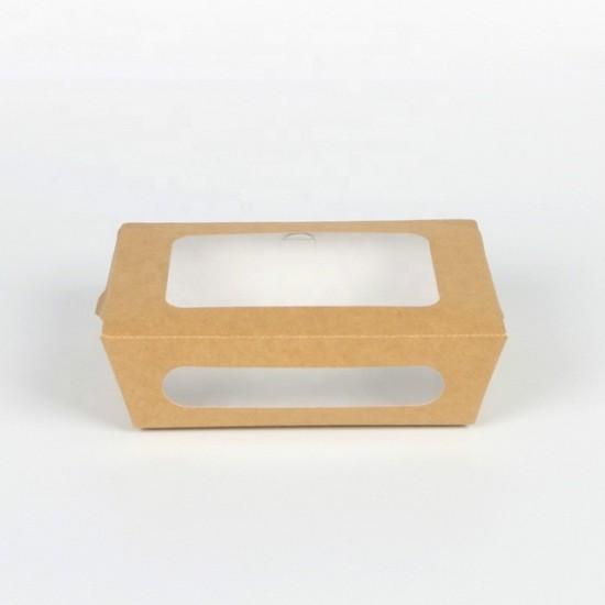 صناديق غداء بنافذتين - بني - متعددة الأحجام (50 صندوق بالشدة)