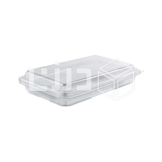 وعاء شفاف بغطاء متصل - 500 مل (درزن في مغلف)