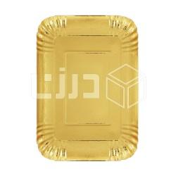 صحن ورق ذهبي مستطيل - مقاسات متعددة