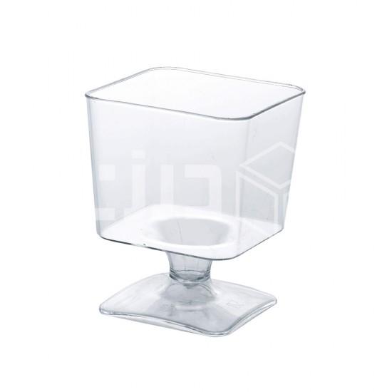 كوب حلى مربع بقاعدة 60 مل (16 حبة بالشدة)
