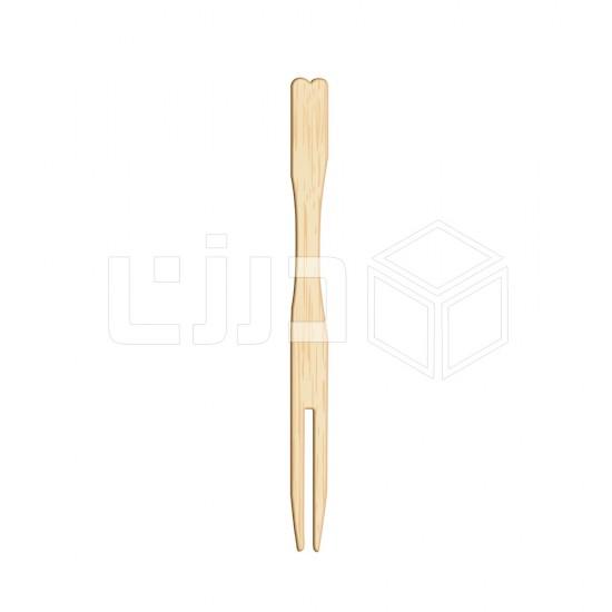شوكة خشبية - برأسين 8.5 سم