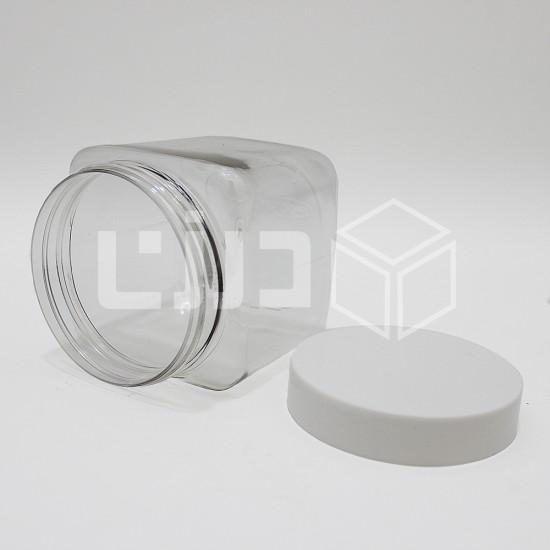 برطمان مربع - مقاسات متعددة (12 حبة بالشدة)