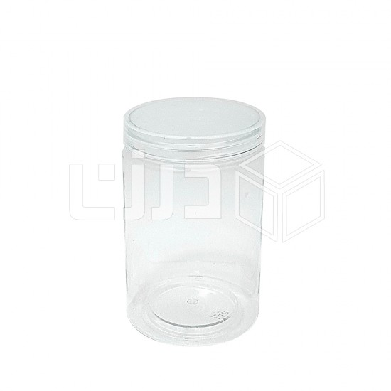 برطمان دائري بغطاء شفاف - مقاسات متعددة (نص درزن 6 حبات بالشدة)