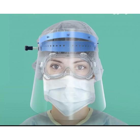 Face shield كمام بلاستيك للوجه - حامي الوجه (نص درزن بمغلف)